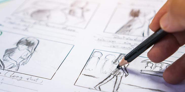 A hand drawing a art