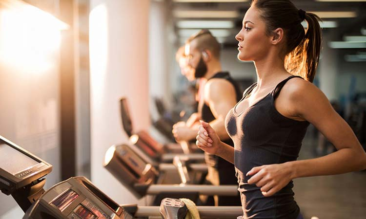 A woman doing workouts